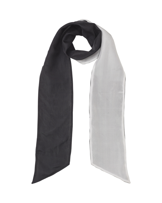 Edblad Sara Thin Silk Scarf Black/white