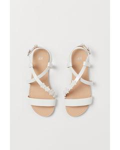 Glitterende Sandalen Wit