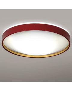 Alina - Grote Plafondlamp Bourgondische Lak En Gouden Binnenlak