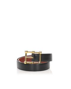Hermes Leather Belt Black