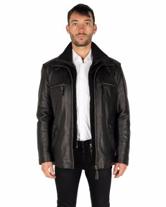 FLEX LEATHER PARKA - LEREN WINTERJAS