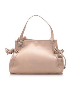 Ferragamo Gancini Leather Shoulder Bag Pink