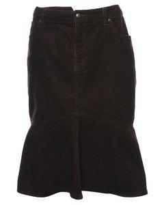 Corduroy Chaps Midi Skirt