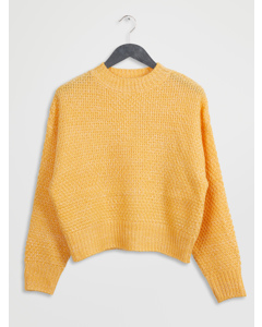 Moss Knit Sweater Yellow