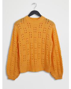 Ornament Knit Sweater Orange