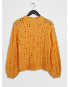 Ornament Knit Sweater Orange