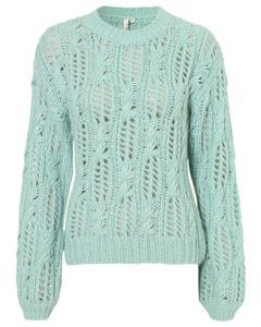 Impression Knit Sweater Aqua