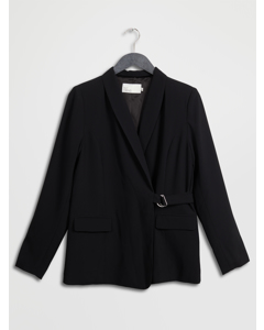 Wrap Belted Blazer Black