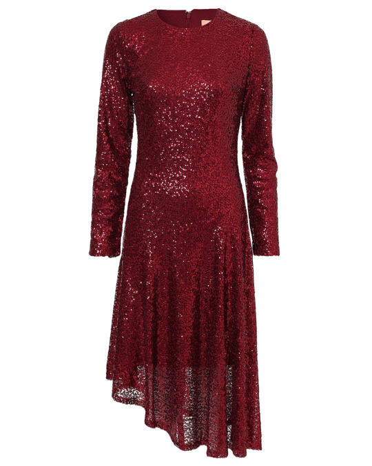 NLY by Nelly Assymetric Sequin Dress Red