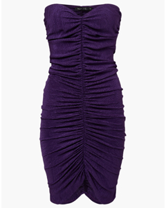 Ruched Tube Dress Purple