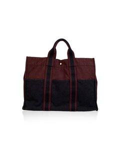 Hermes Black Cotton Handtas Model: Fourre Tout Mm