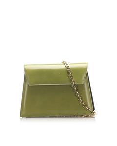 Ferragamo Chain Leather Crossbody Bag Green