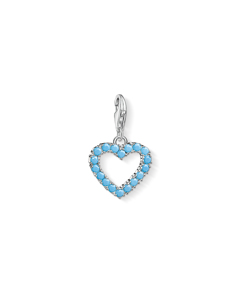 Charm Pendant Turquoise Heart 925 Sterling Silver