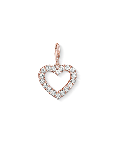 Charm Pendant Heart 925 Sterling Silver; 18k Rose Gold Plating