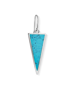 Earring Triangle Turquoise 925 Sterling Silver