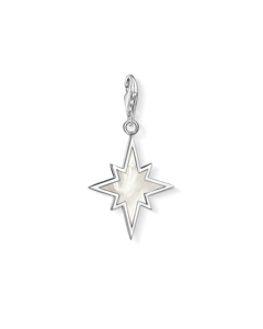 Charm Pendant Star Mother-of-pearl 925 Sterling Silver