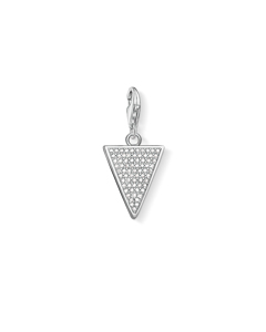 Charm Pendant Triangle White 925 Sterling Silver