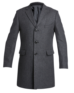 Wool Zip Coat Grey