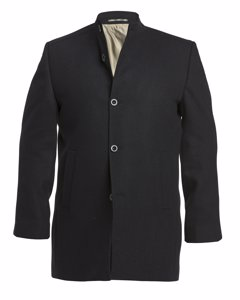 Wool Stand Up Collar Coat Black