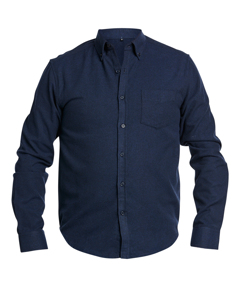 Solid Flanell Shirt Dk Navy