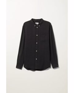 Malcon Structured Shirt Black