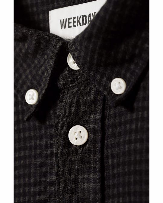 Weekday Malcon Structured Shirt Black
