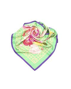 Hermes Roseraie Silk Scarf Green