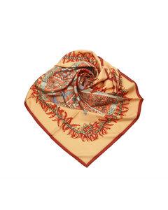 Hermes Printed Silk Scarf Red