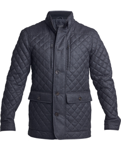 Diamond Quilted Jacket Grey
