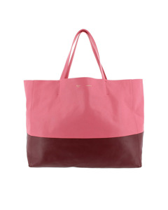 Celine Horizontal Cabas Leather Tote Bag Pink