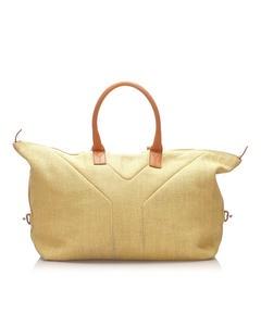 Ysl Easy Y Canvas Travel Bag Brown