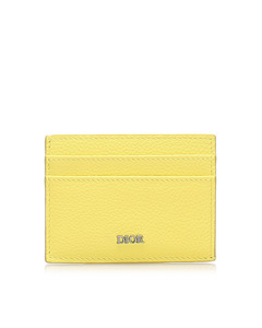 Dior Leather Card Holder Yellow