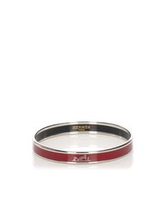 Hermes Enamel Bangle Red