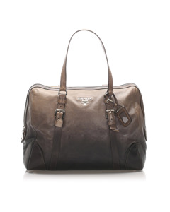 Prada Leather Tote Bag Black