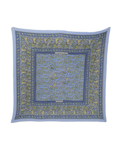 Hermes Chasse En Inde Pleated Silk Scarf Blue