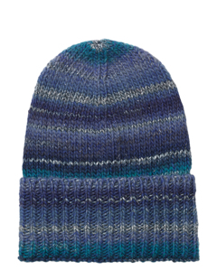 Jadia Mix Beanie Navy Blue