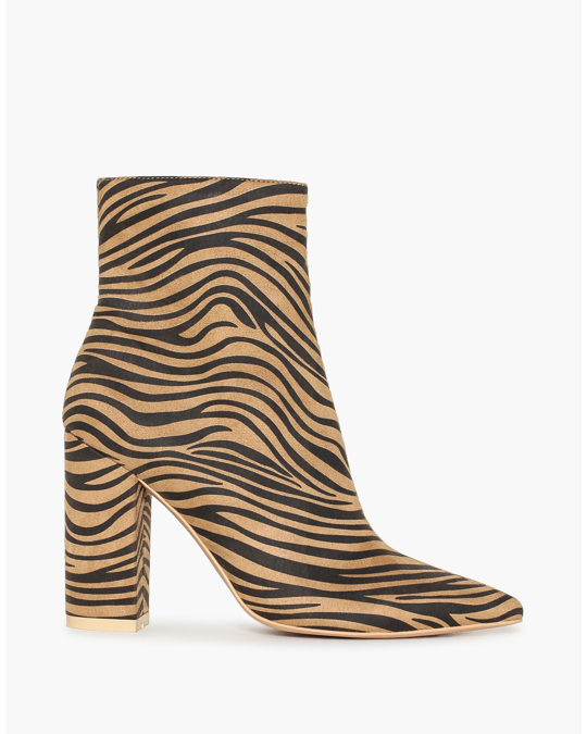 NLY by Nelly Slim Block Boot Tiger