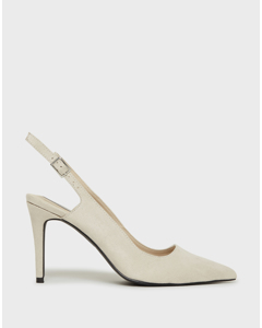 Sharp Slingback Light Grey