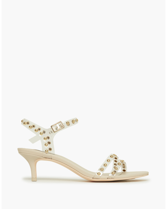 NLY by Nelly Golden Stud Heel Beige