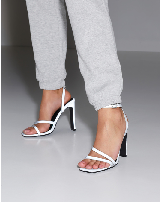 NLY by Nelly Keeping Up Heel Sandal Grey