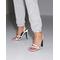 Keeping Up Heel Sandal Grey