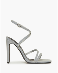 Keeping Up Heel Sandal Grey