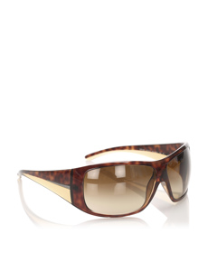 Prada Round Tinted Sunglasses Brown