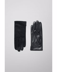 Vent Leather Gloves Black