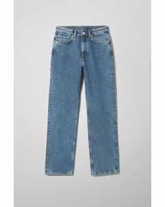 Voyage High Straight Jeans Steel Blue