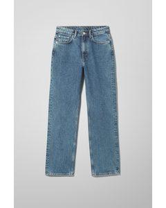 Voyage Jeans mit hohem Bund und geradem Bein Stahlblau