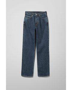 Rowe Jeans mit extra hohem Bund und geradem Bein Win-Blau