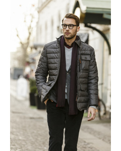 Padded Quilt Jacket Grey