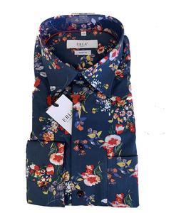 Multicolored Shirt Dark Blue