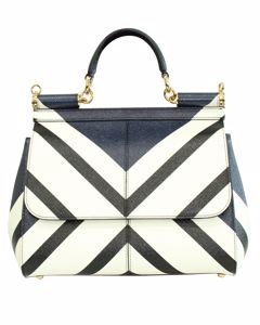 Black And White Printed Sicily Bag